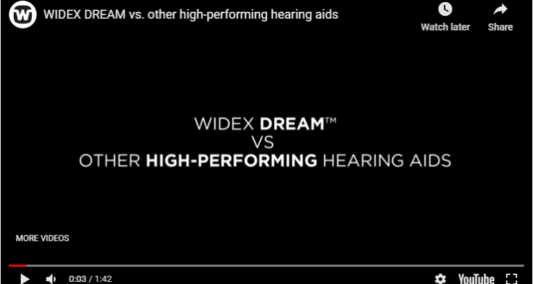 Widex Dream VS Other High-Performing Hearing Aids